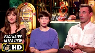 Jon Hamm, Dakota Johnson & Cailee Spaeny Exclusive Interview - Bad Times at the El Royale (2018)