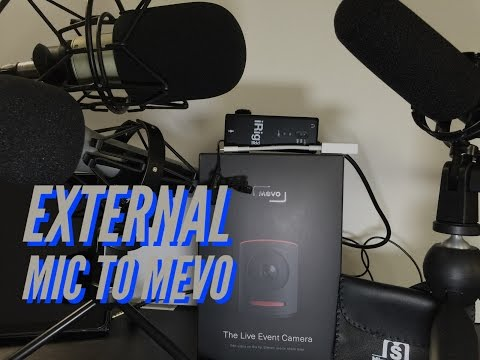 How to Connect an External Microphone to a Mevo Camera