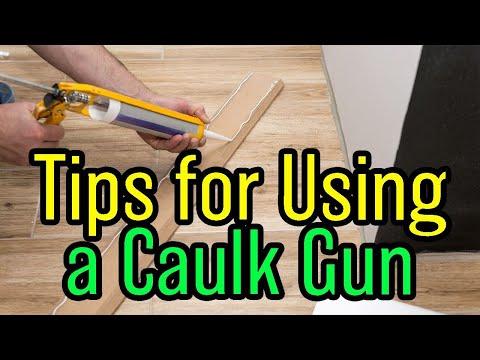 How To Use A Caulk Gun and a Secret