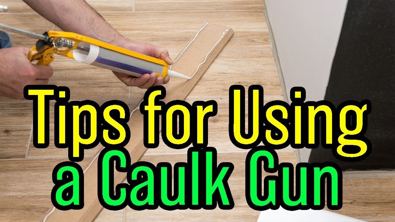 how to use a caulk gun and a secret youtube. Black Bedroom Furniture Sets. Home Design Ideas