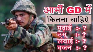 Indian आर्मी GD की पुरी जानकारी in Hindi