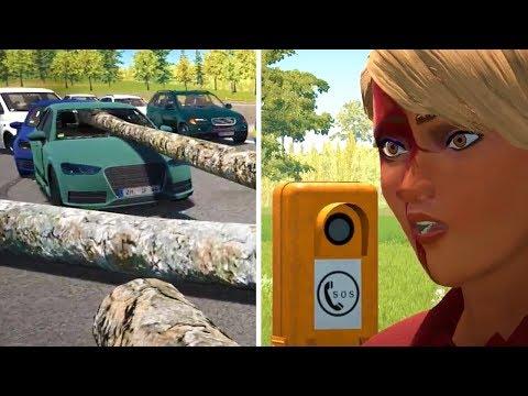 Autobahn Police Simulator 2 - Part 20 - Logging Truck Accident |