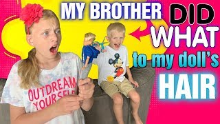 My Brother Did WHAT to my Doll??!! Creatable World First Look!
