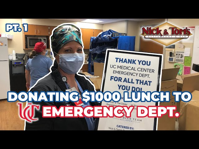 DONATING $1,000 OF FOOD TO CINCINNATI FIRST RESPONDERS PT.1