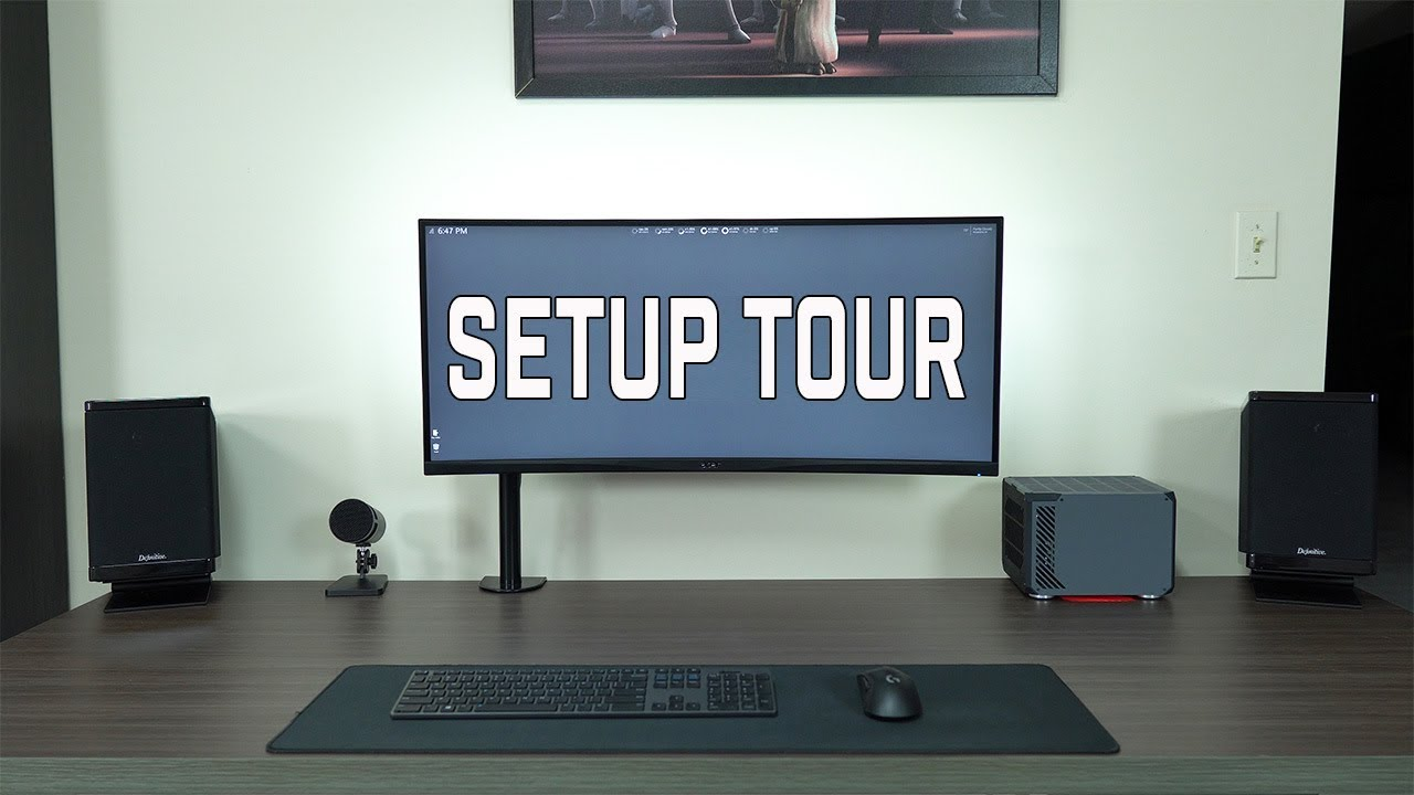 Setup Tour 2018: PC Desk & Home Theater - YouTube