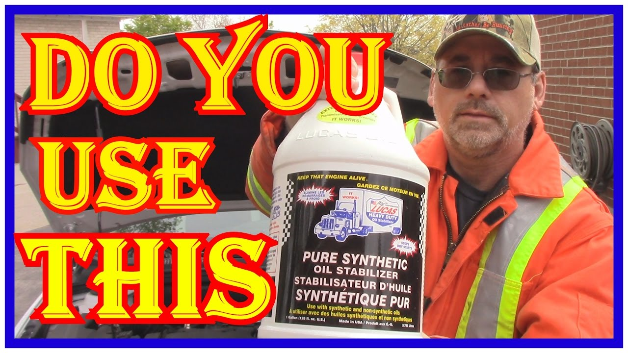 ENGINE OIL ADDITIVES DO THEY WORK - LUCAS SYNTHETIC OIL STABILIZER REVIEW