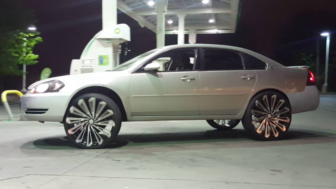 Impala On 26s At The Gas Station Lee Rd Cleveland Ohio