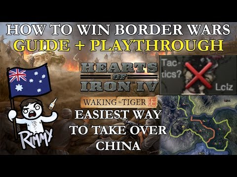 HOI4 Waking the Tiger - How to Win Border Conflicts (Taking over all of China!)
