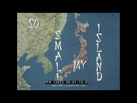 "PAN AM AIRLINES JAPAN TRAVELOGUE ""SO SMALL MY ISLAND"" 72412"