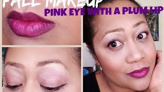 Fall Makeup Pink Eyeshadow with a Plum Bold Lip Thumbnail