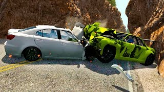 BEST OF INSANE CRASHES #3 BeamNG Drive - Truck Falls and jumps, car crashes CARSDI