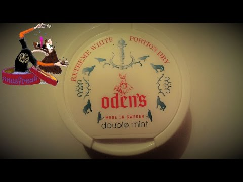 Der Oden´s double mint white dry Portion Snus I Snusfreak