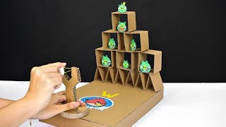 How to Make Real Life Angry Birds Gameplay from Cardboard