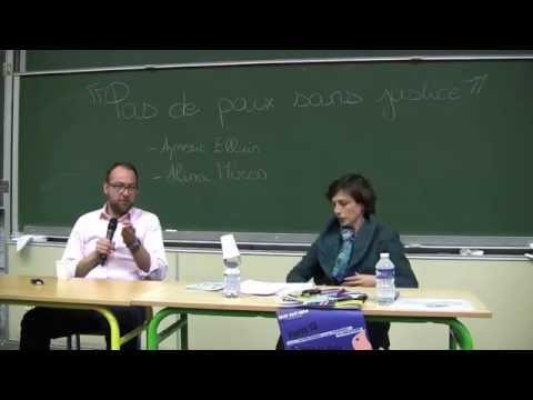 """Conférence Amnesty International """"Pas de Paix sans Justice"""""""