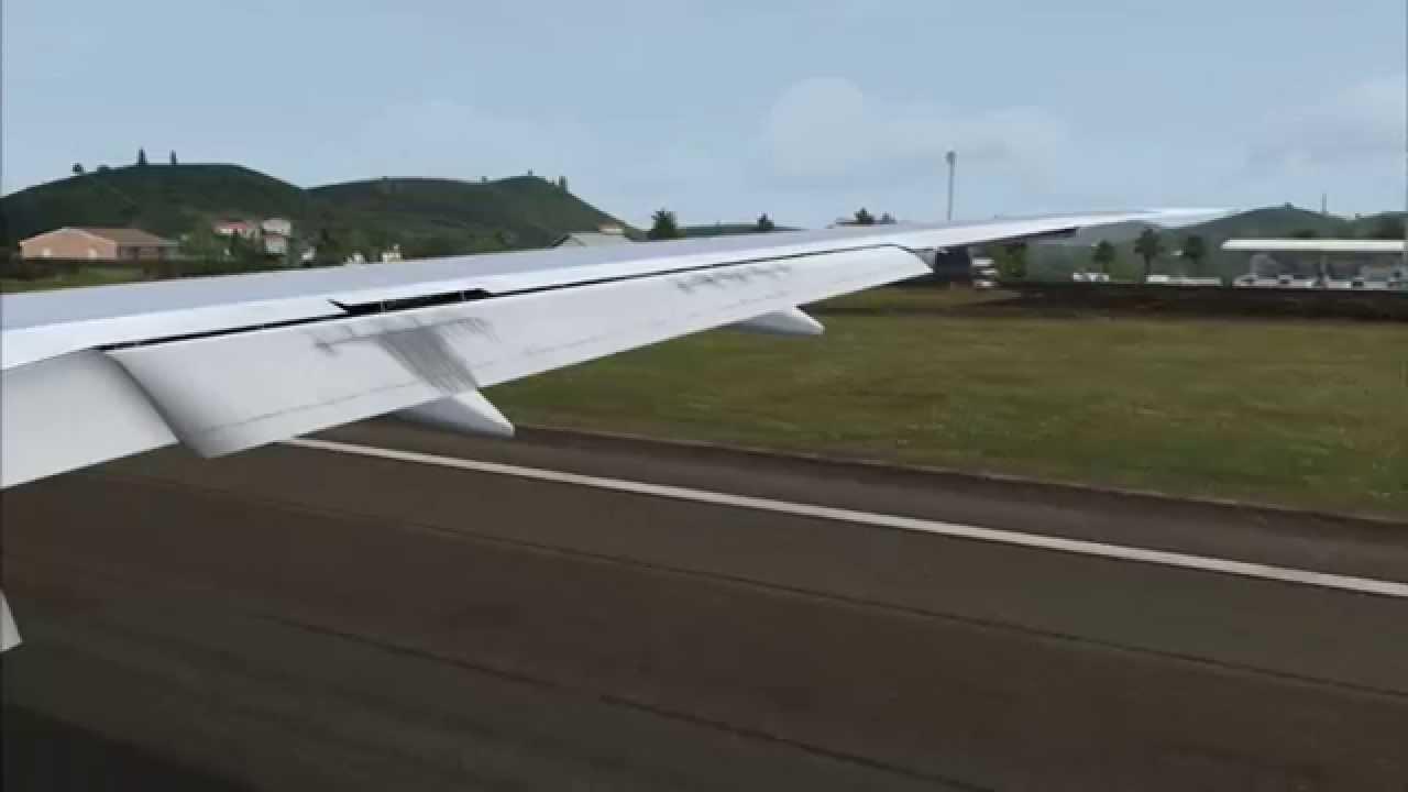 HD - FSX 777-200 British Airways Landing St  Kitts