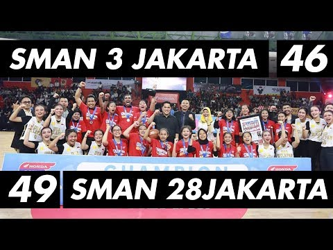 SMAN 3 Jakarta VS SMAN 28 Jakarta   Final Party Honda DBL DKI Jakarta Champioship Series