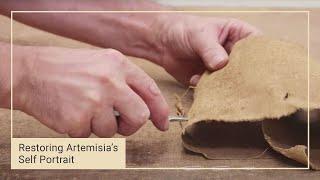 Repairing a 17th century canvas | Restoring Artemisia Gentileschi