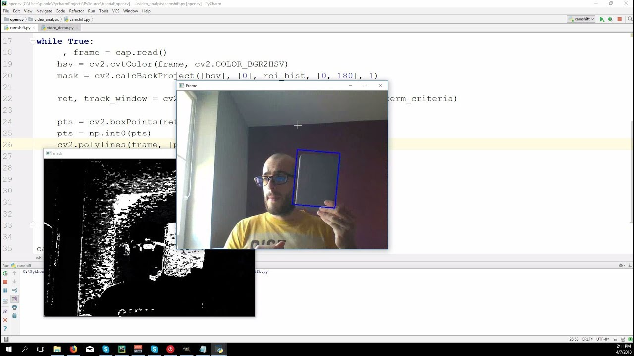 Object tracking with Camshift – OpenCV 3 4 with python 3