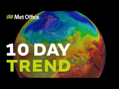 10 Day trend - A change on the way as the jet stream moves north