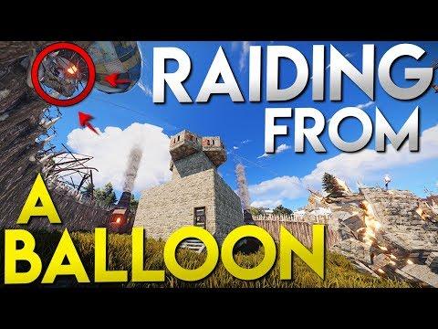 RAIDING A BASE FROM A BALLOON | RUST thumbnail