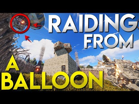 RAIDING A BASE FROM A BALLOON | Vanilla Rust