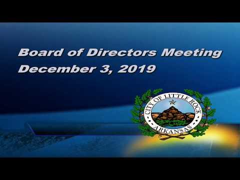 Board Meeting, December 3, 2019