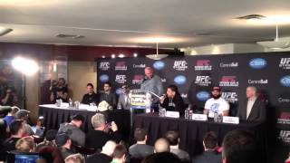 "Nick Diaz - Classic ""Wolf Tickets"" quote @ UFC 158 press co"