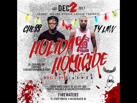 CHESS VS TY LAW ANNOUNCEMENT | CGBL: HOLIDAY HOMICIDE DEC 2ND