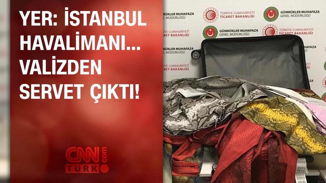 İstanbul Havalimanı'nda valizden servet çıktı