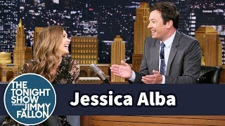 Jimmy Gives Jessica Alba His Version of an Escalator Pitch