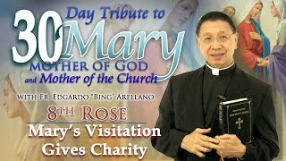 30 DAY TRIBUTE TO MARY  8th ROSE:   Mary\'s Visitation Gives Charity