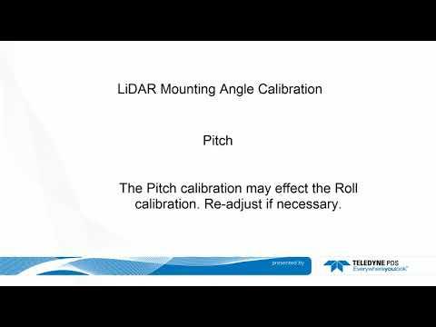 Teledye PDS – LiDAR laser mounting angle calibration