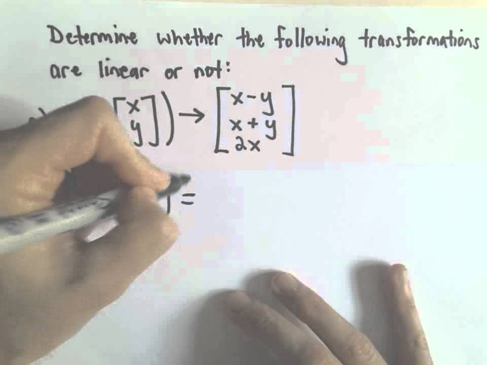 Linear Transformations , Example 1, Part 1 of 2 - YouTube