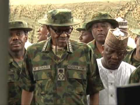 President Muhammadu Buhari Meets Soldiers On Location