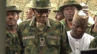 President Muhammadu Buhari Meets Soldiers On Location
