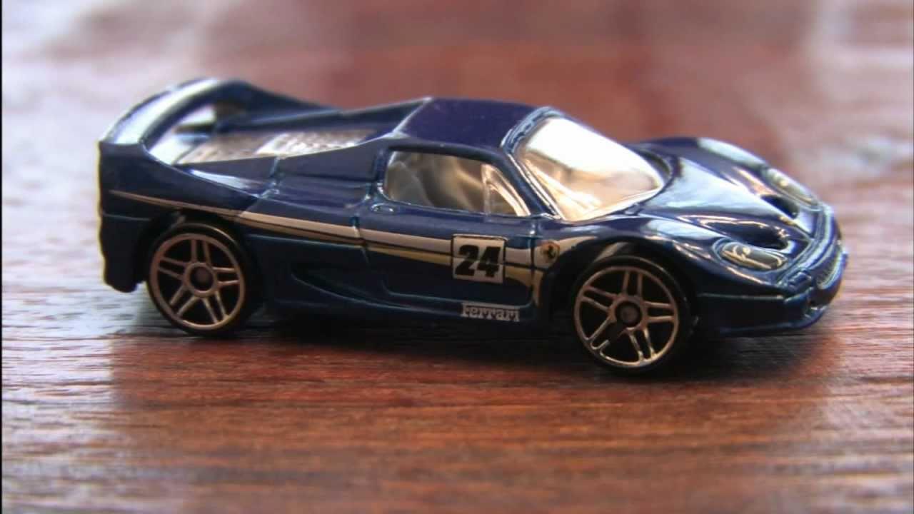 Cgr Garage Ferrari F50 Blue Hot Wheels Review Youtube