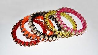 DIY Стильные браслеты из пластиковой бутылки и бусин. Мастер класс \ Bracelets of plastic bottle .