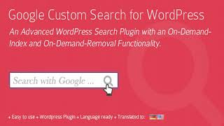 Google Custom Search for WordPress Plugin | Codecanyon Scripts and Snippets