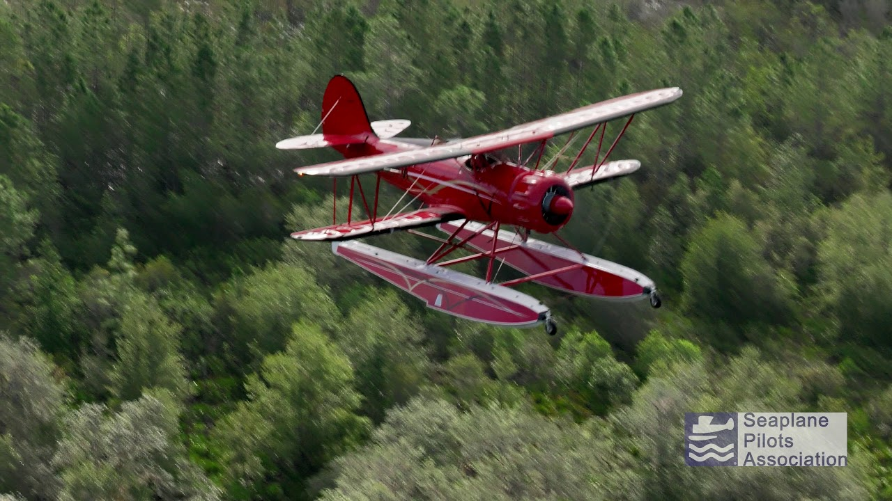 Flying the Amazingly Cool Waco YMF-5F on Amphibious Floats