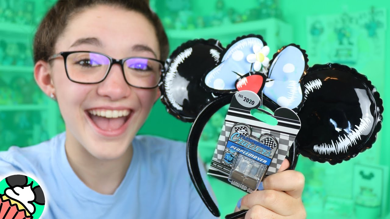 First PeopleMover Pin & NEW Loungefly Balloon Minnie Ears Review! Disney Online Shopping Haul!