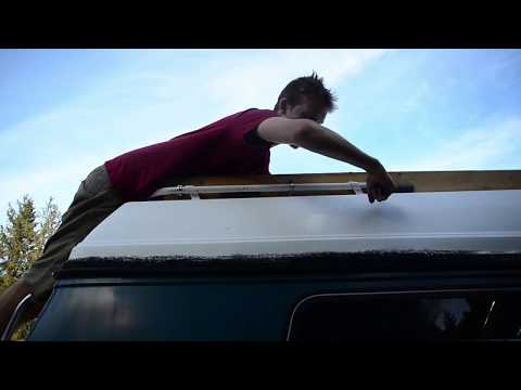 How to build wood roof racks for Chevy 20 Camper Conversion Van