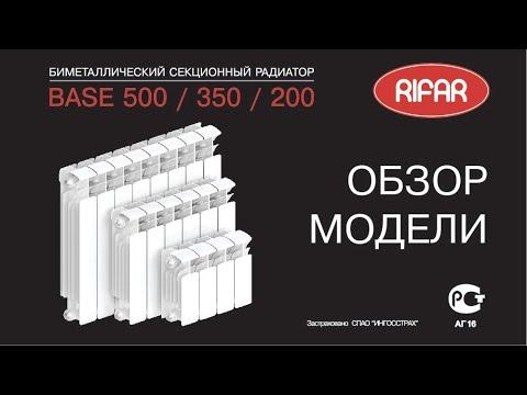 Обзор радиатора RIFAR Base