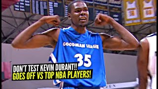 Kevin Durant Gets CHALLENGED & Then GOES OFF vs James Harden, DeMar DeRozan, Swaggy P & More!