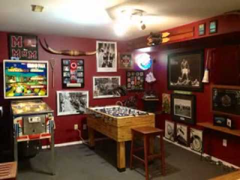 man cave decorating ideas youtube. Black Bedroom Furniture Sets. Home Design Ideas