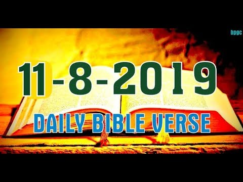 Today's Blessing Verse - Daily Bible Verse - [11-8-2019]