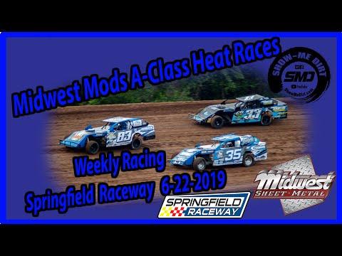 S03-E308 Midwest Mods A-Class Heat Races - Springfield Raceway 6-15-2019 #DirtTrackRacing