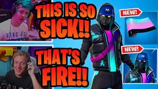 STREAMERS REACT TO *NEW* ANIMATED CRYPTIC SKIN & ENIGMA WRAP - EPIC FORTNITE MOMENTS