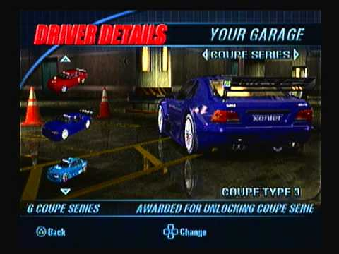 Burnout 3 Takedown all cars with speed stats