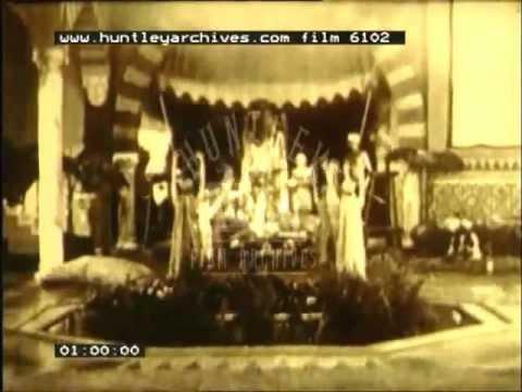 An Arabian Nights style story starring Chimpanzees, 1920's -- Film 6102