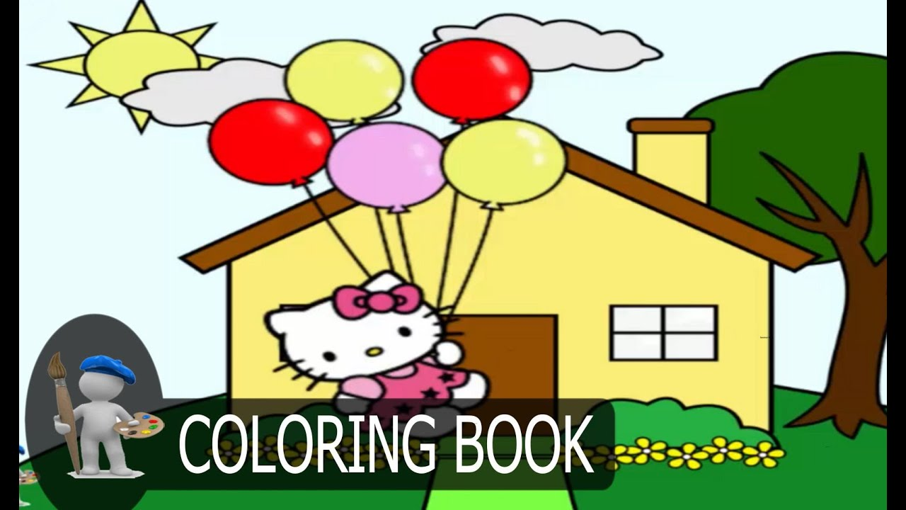 hello kitty for kids coloring pages coloring game youtube